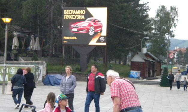 ZLATIBOR! Led bilbord na centralnom platou i magistralnom putu BG-Podgorica