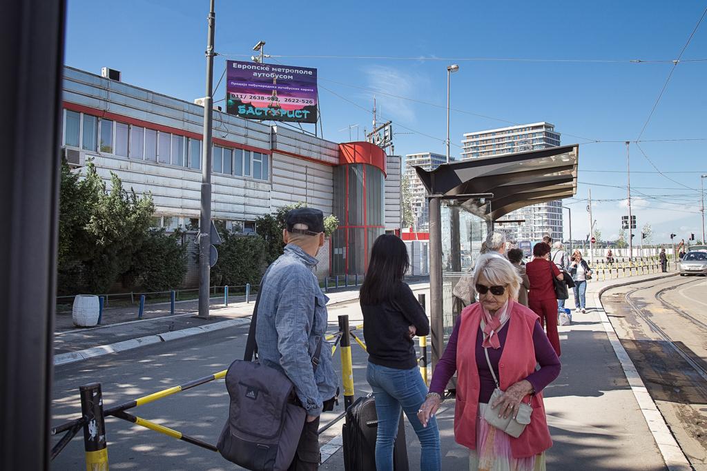 LED bilbord autobuska stanica Savski most