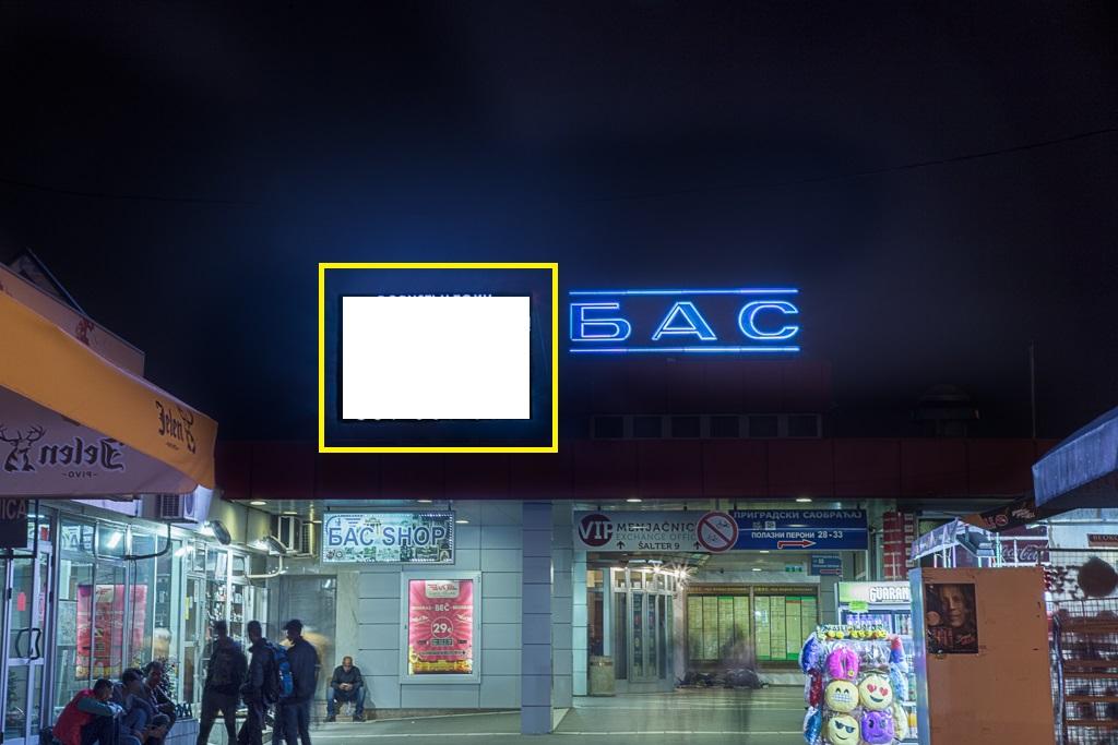 LED bilbord autobuska stanica glavni ulaz 1