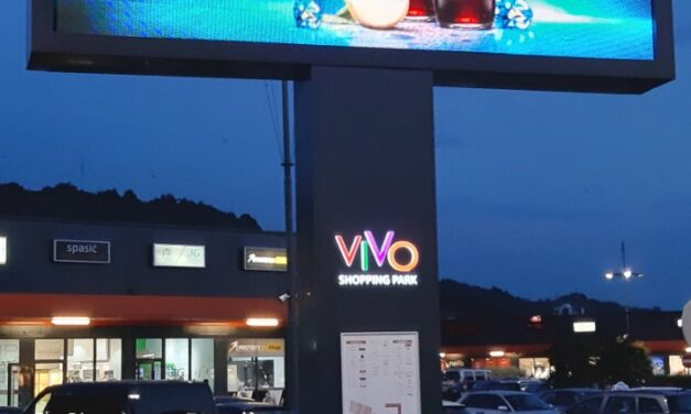 VIVO shopping park Jagodina, OUTDOOR led bilbord
