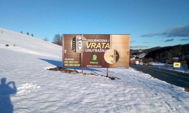30% popusta na zakup – dvostrani bilbord na mg putu, 5km do Zlatibora!