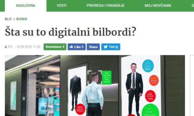 Šta su to digitalni bilbordi?