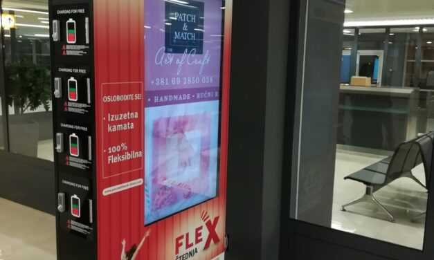 Aerodrom Nikola Tesla, Beograd – INDOOR oglašavanje mreži led totema, Terminal 1 i 2